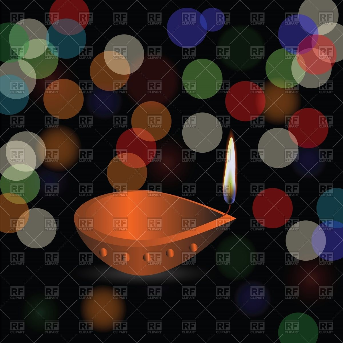 Diwali holiday background with blurred bokeh lights Vector Image 1200x1200