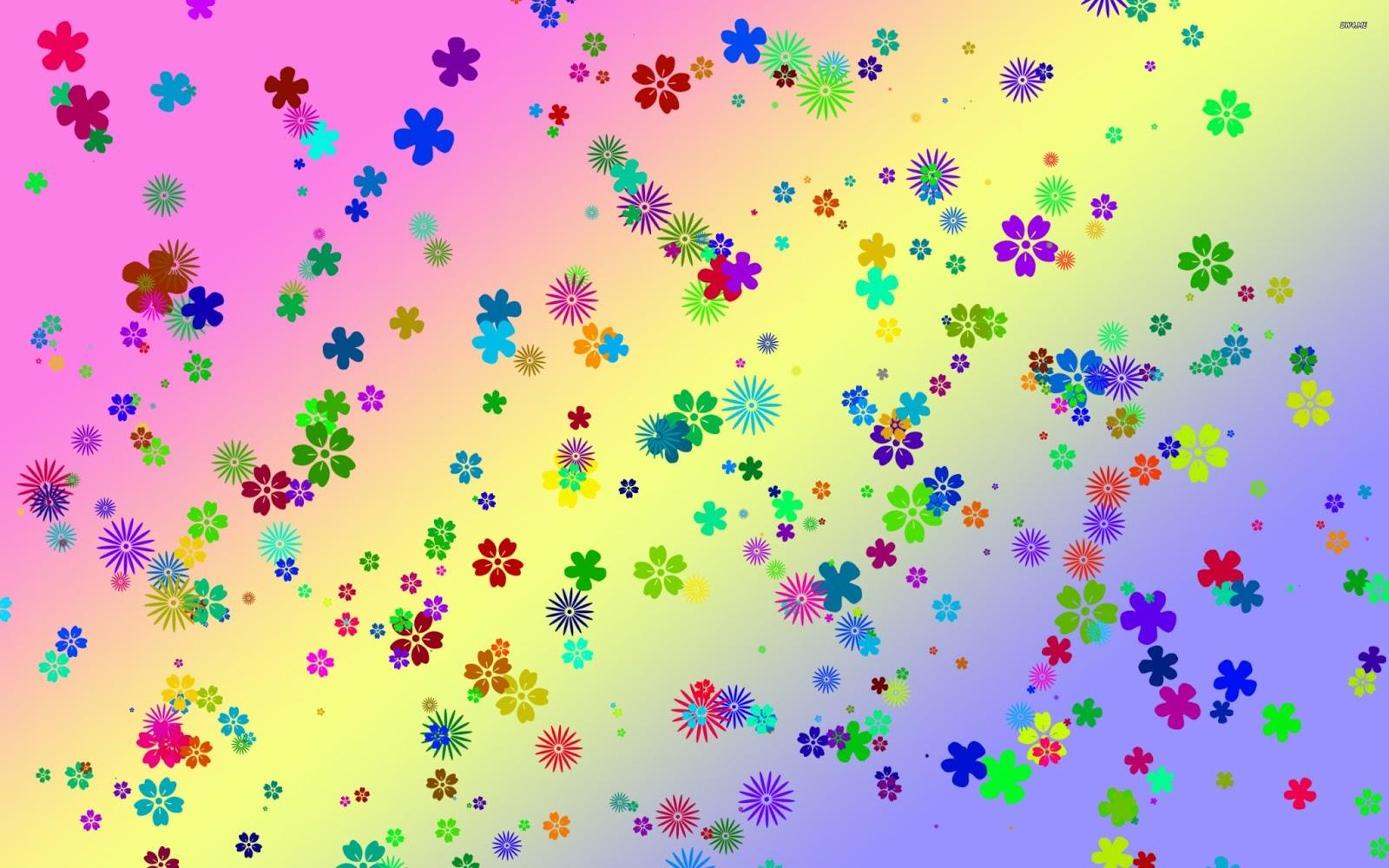 Colorful Flowers Desktop 1600x1000