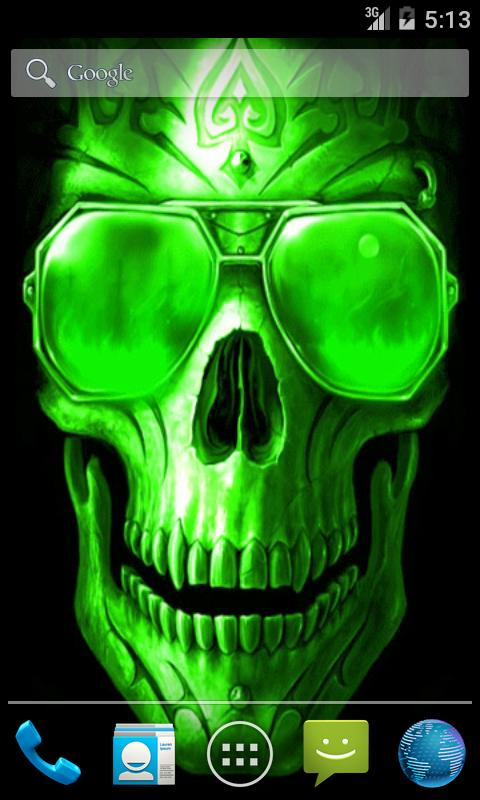 Green Skull Live Wallpaper   Android Apps on Google Play 480x800