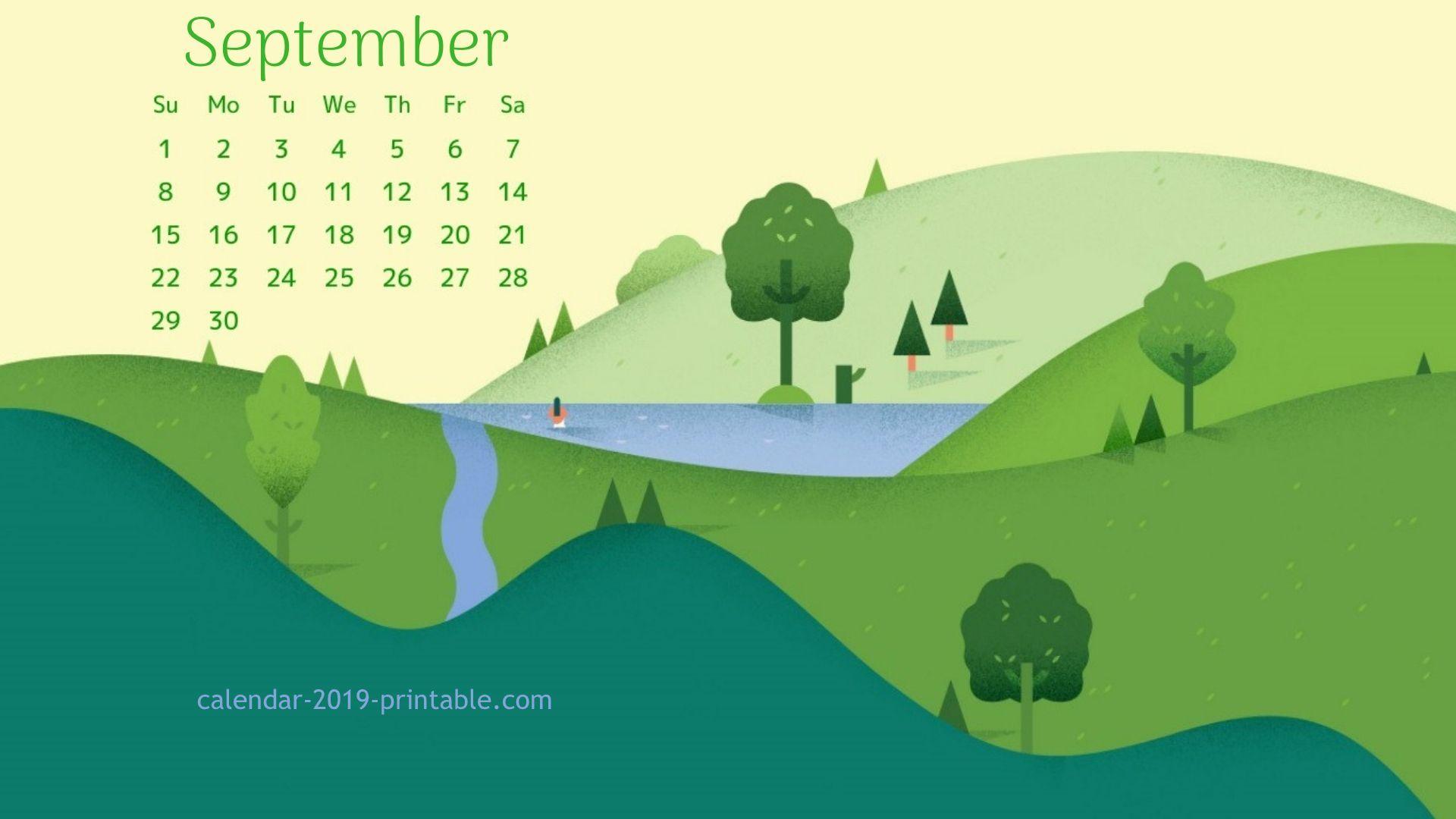 september 2019 calendar beautiful wallpaper in 2019 Desktop 1920x1080