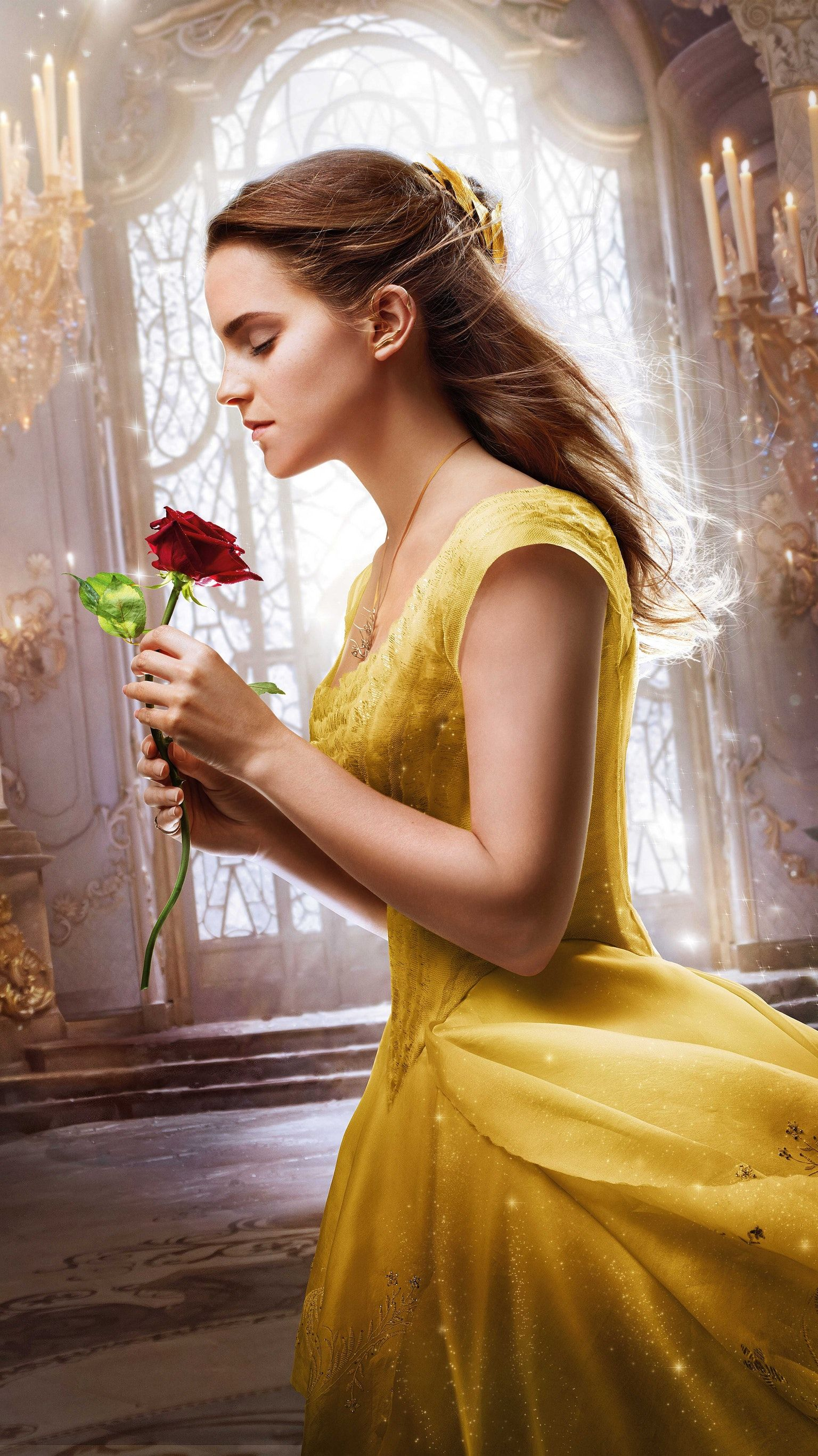 Free Download Beauty And The Beast 2017 Phone Wallpaper In 2020
