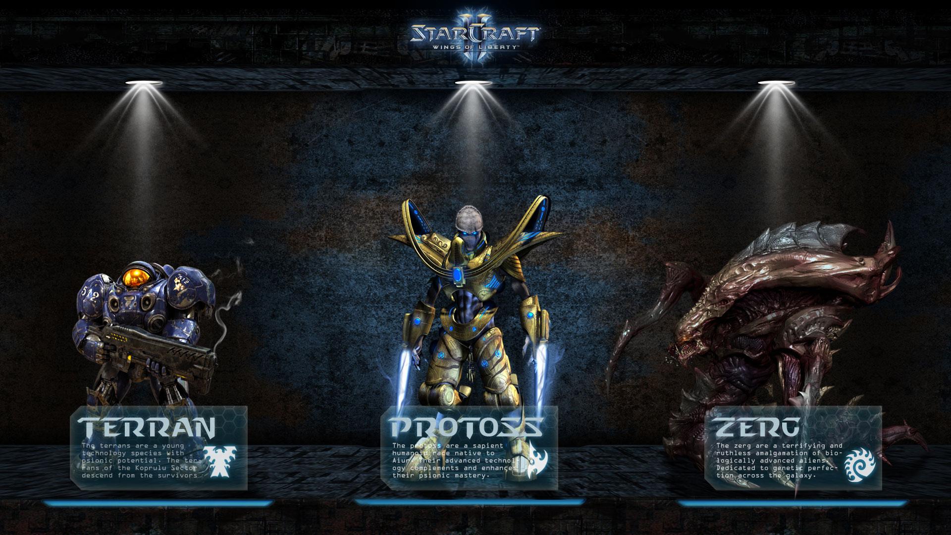 Games Wallpapers   Starcraft 2 Races 1920x1080 wallpaper 1920x1080