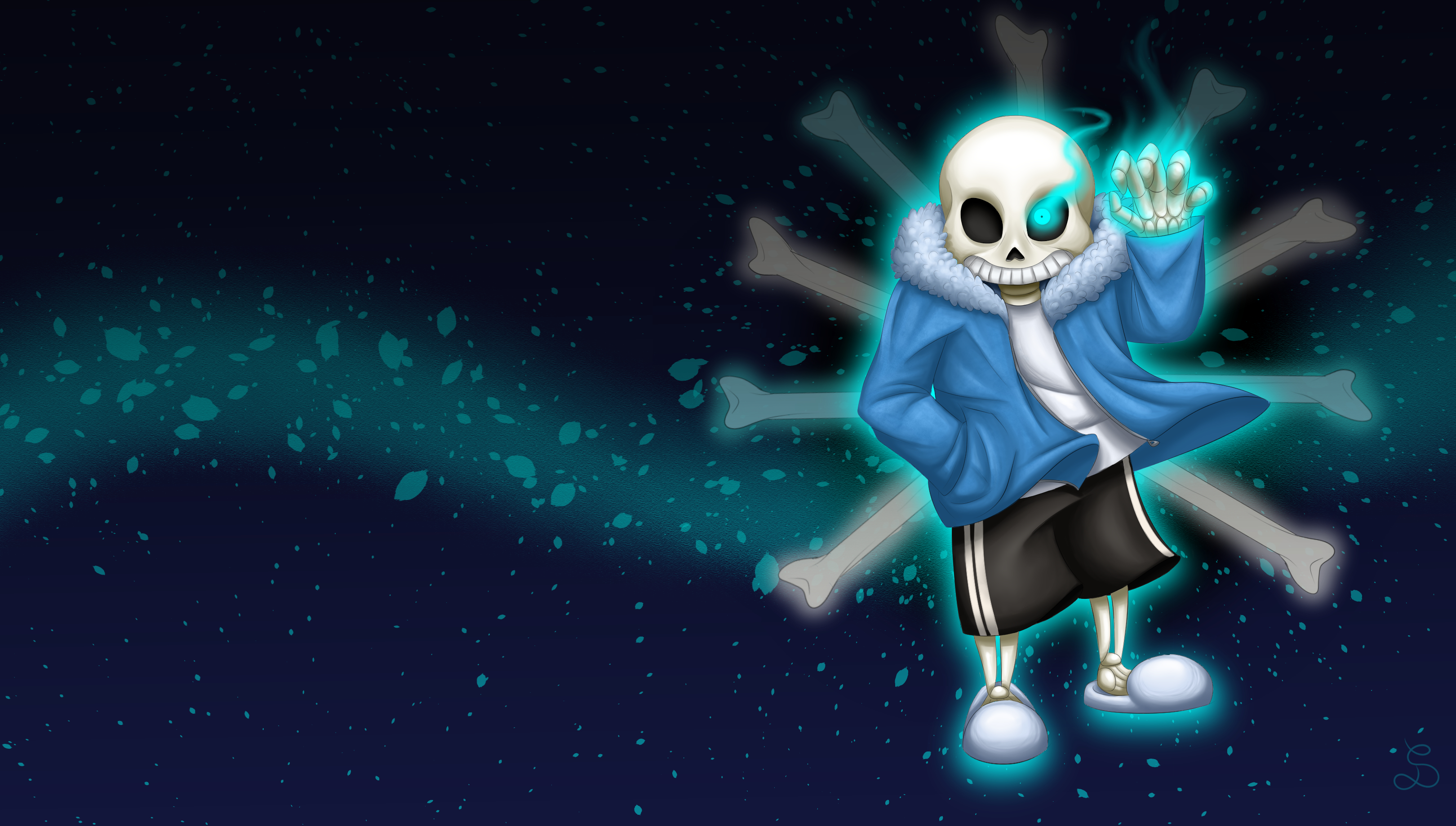 Undertale Wallpaper Sans by SarOkami 3240x1840