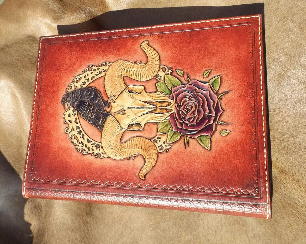 leather tooled book by CreationsMJF 1001x798