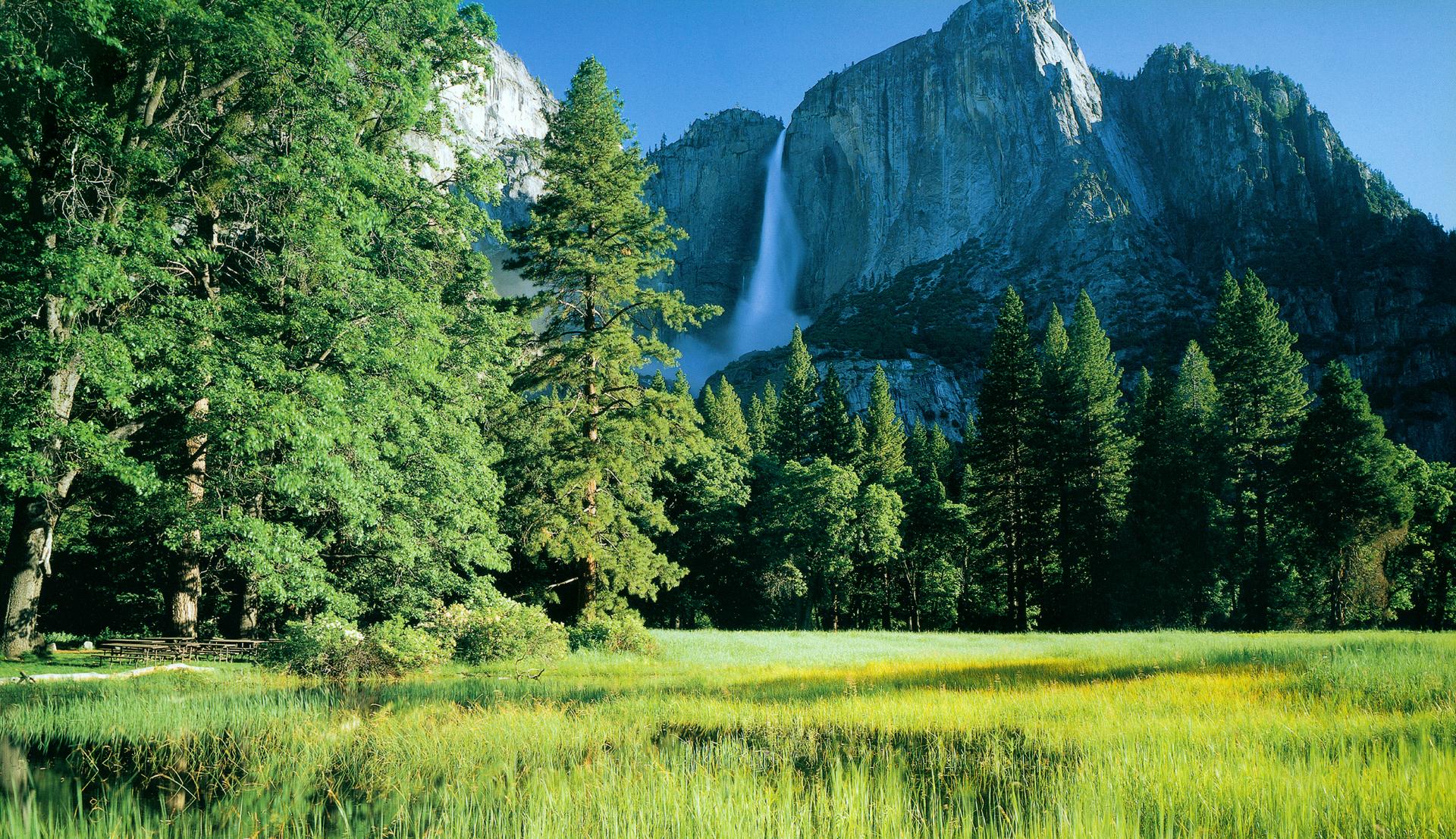 Green Yosemite National Park Muntain Wallpapers HD 1920x1107