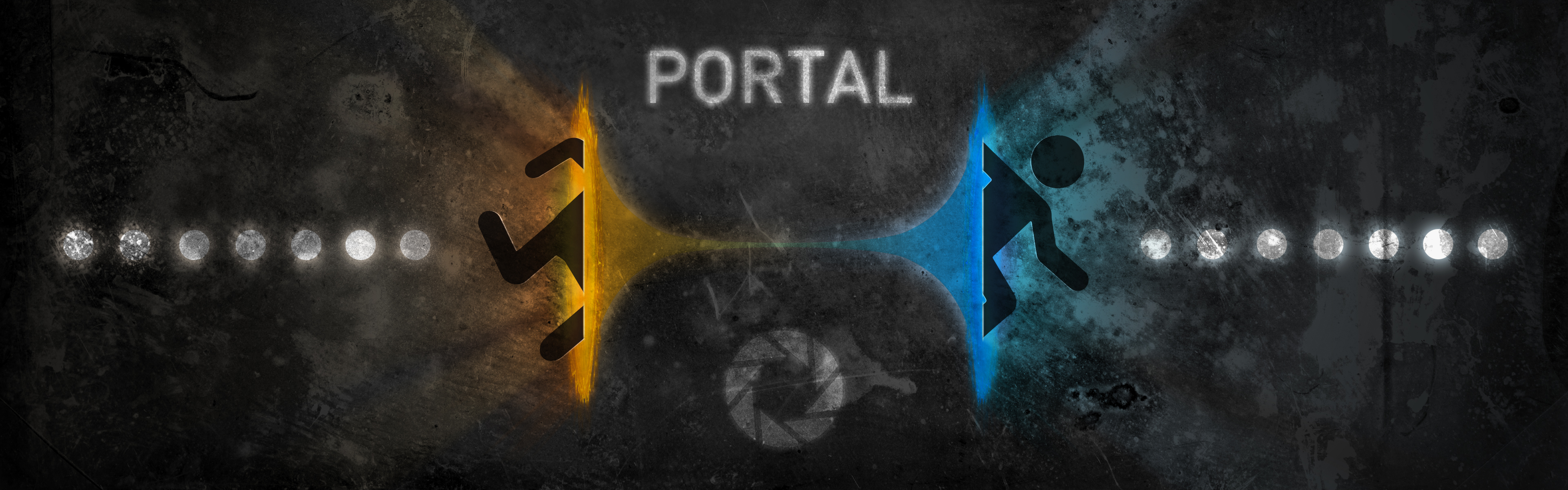wallpapers I thought I could create a Portal wallpaper for this 3840x1200