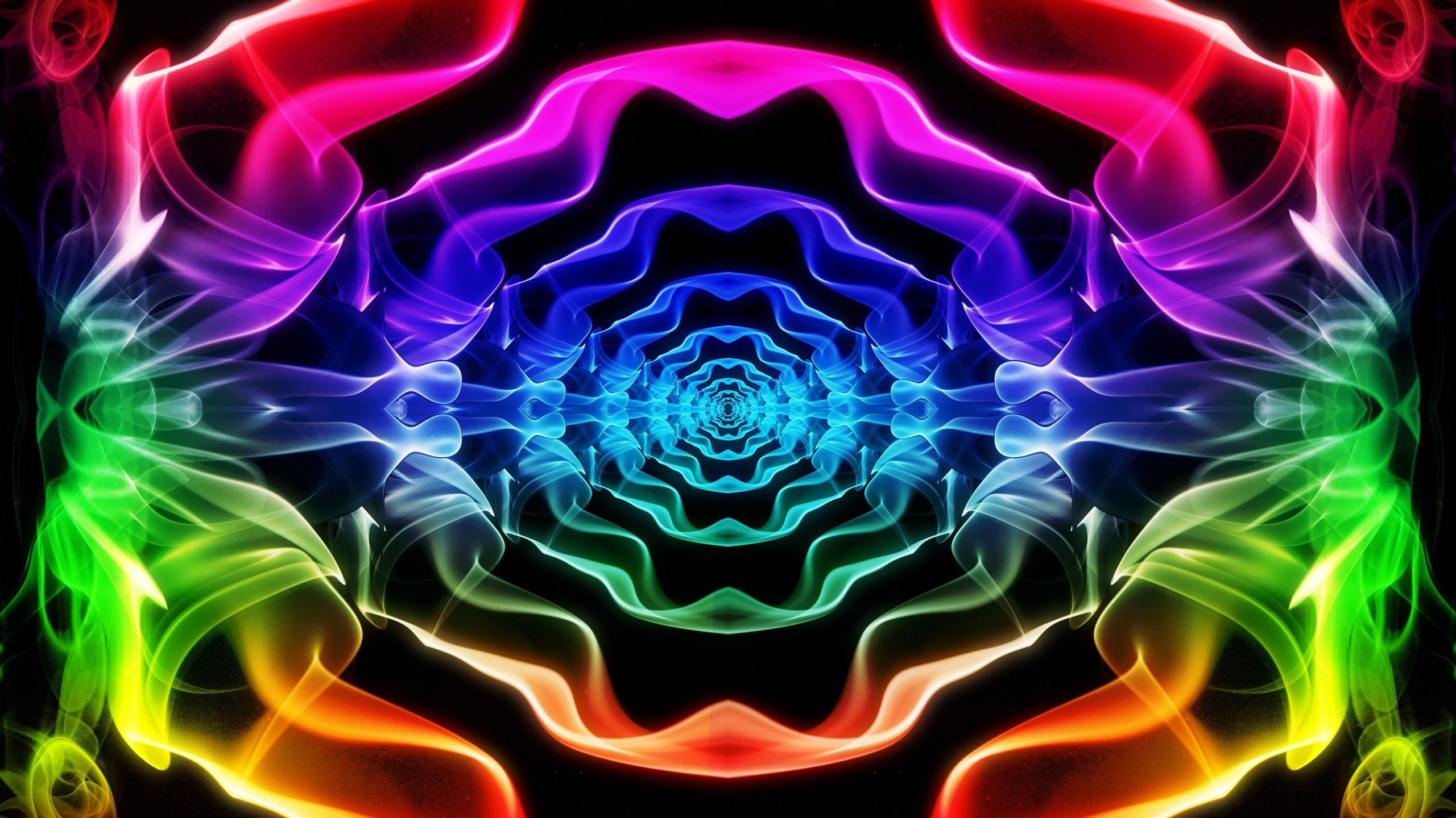 abstract smoke psychedelic color spectrum wallpaper background 2560x1440