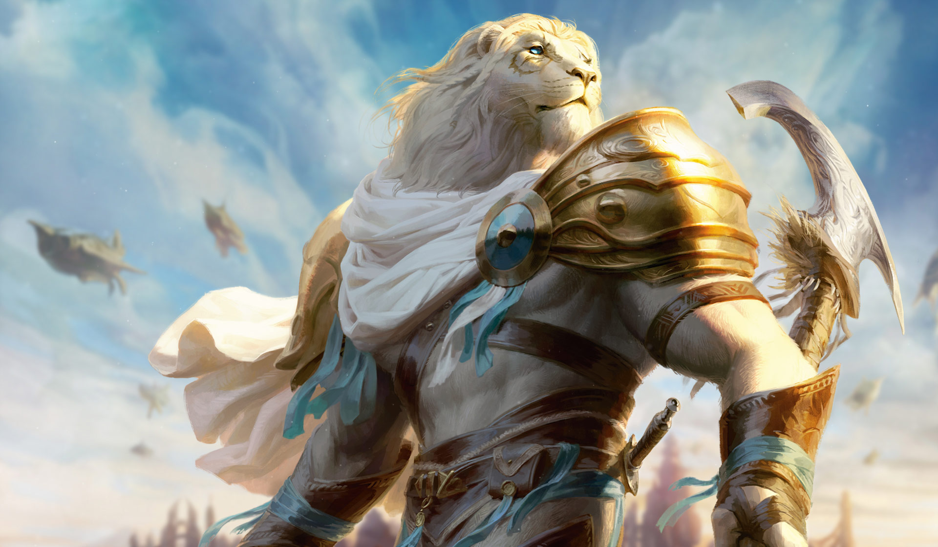 AJANI GOLDMANE   PLANESWALKERS MAGIC THE GATHERING 1920x1120