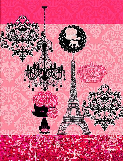 Girly Paris Wallpaper - WallpaperSafari Vintage Flower Background Tumblr