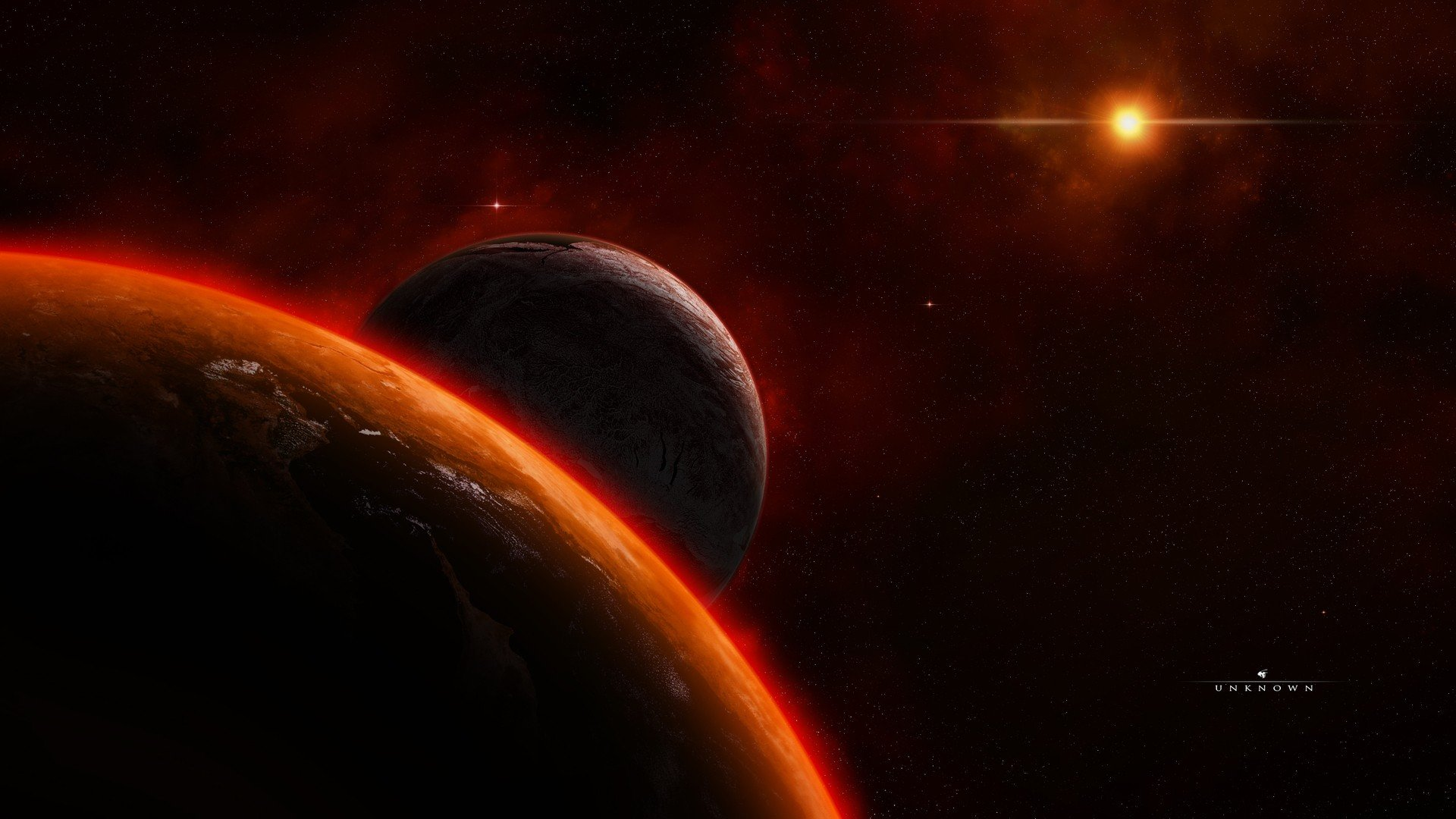 outer space artwork 3d HD Wallpaper   Space Planets 1263250 1920x1080