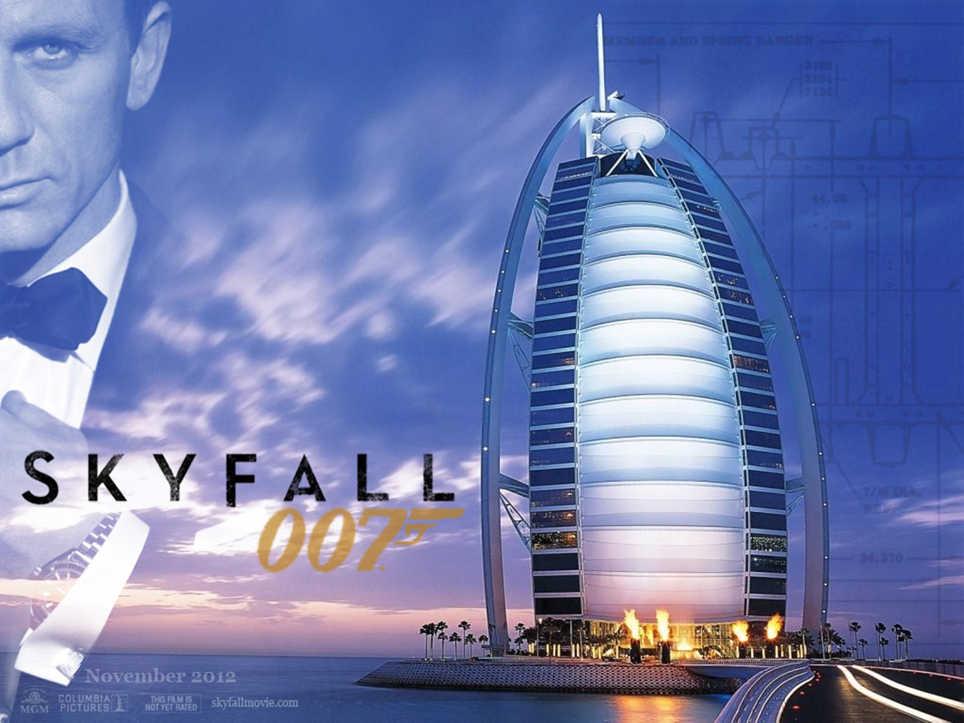 Skyfall 007 Movie Poster HD Wallpaper   Stylish HD Wallpapers 1920x1440