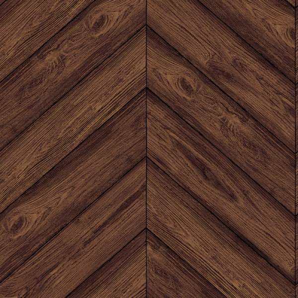 Decor \ Wallpaper \ Herringbone Textured Walnut Removable Wallpaper 600x600