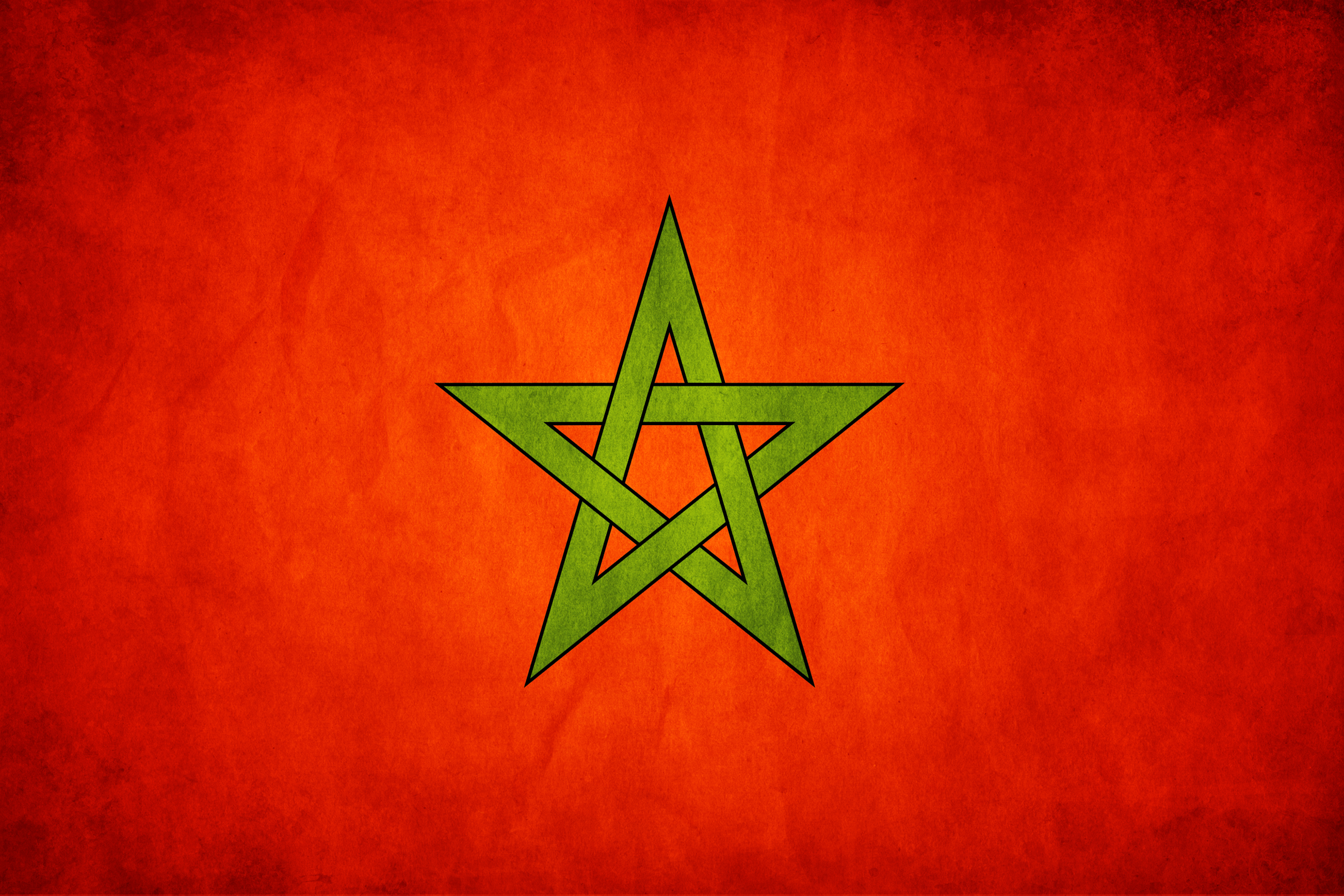 Flag Of Morocco 4k Ultra HD Wallpaper Background Image 4000x2667