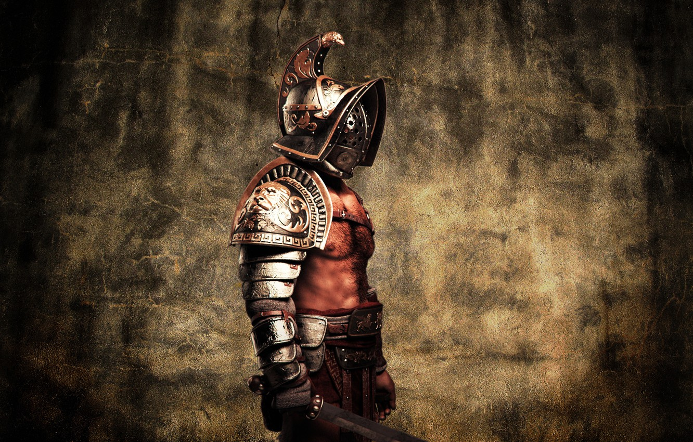 Wallpaper metal style armor warrior helmet male Gladiator 1332x850