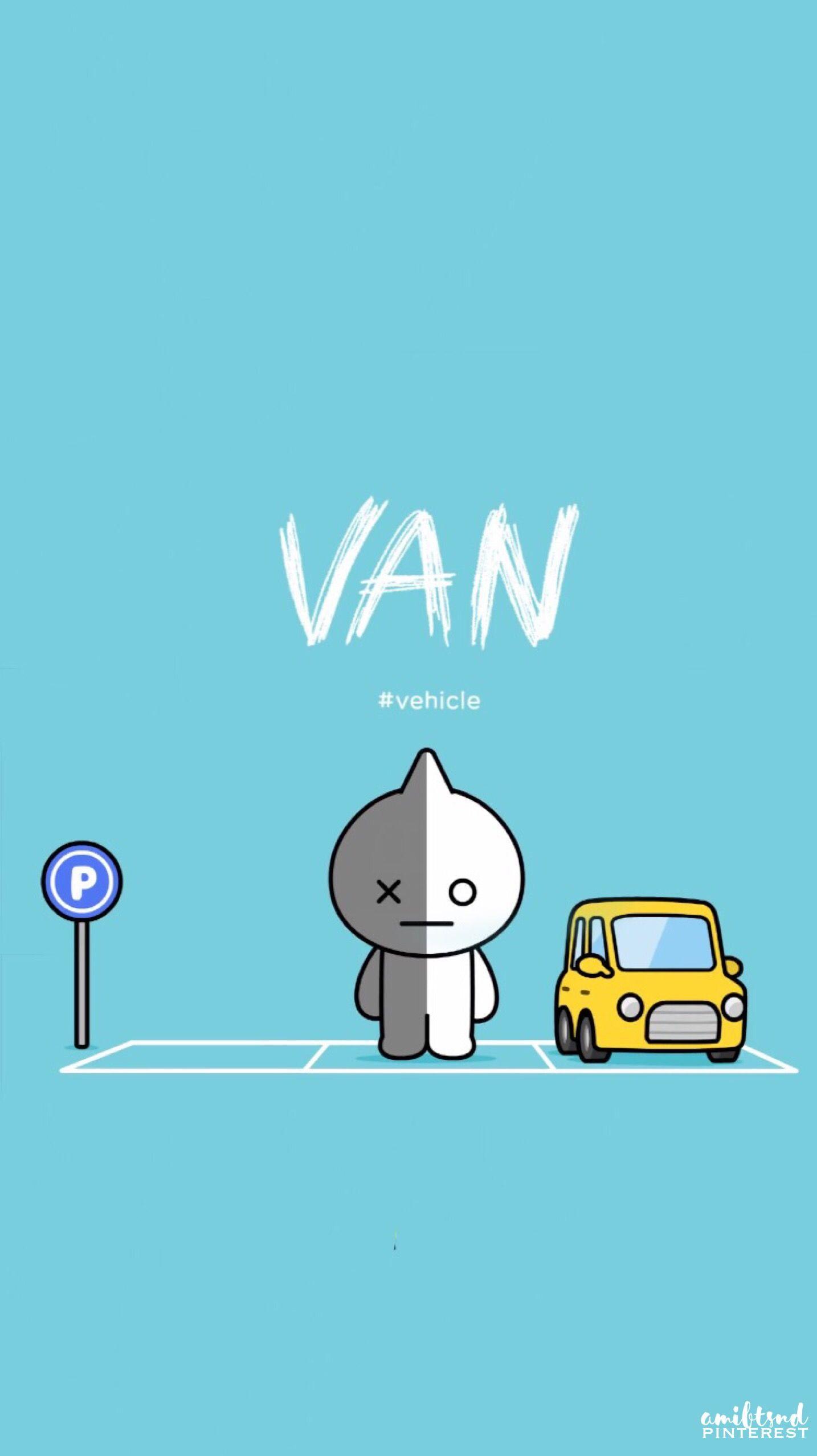 Bt21 Van With Name   1434x2556   Download HD Wallpaper   WallpaperTip 1434x2556