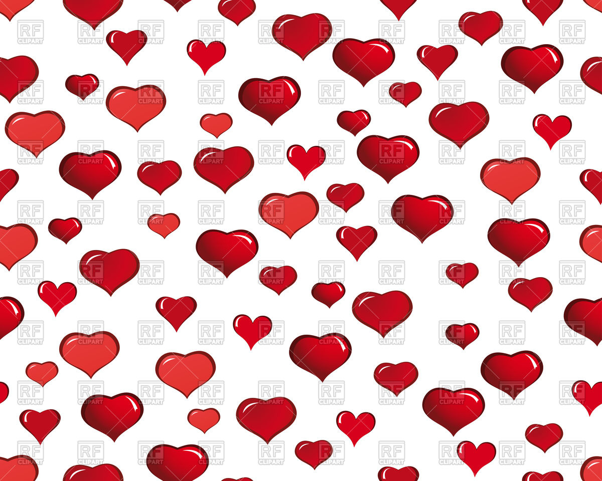 St Valentine Day seamless background with hearts Vector Image of 1200x960