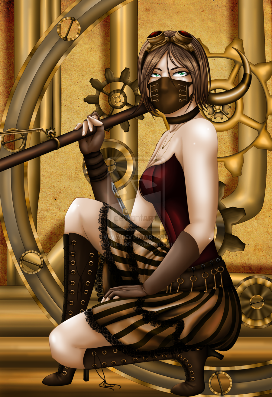 Pin Steampunk Girl Outfit Claws Wallpapers Fantasy 900x1311