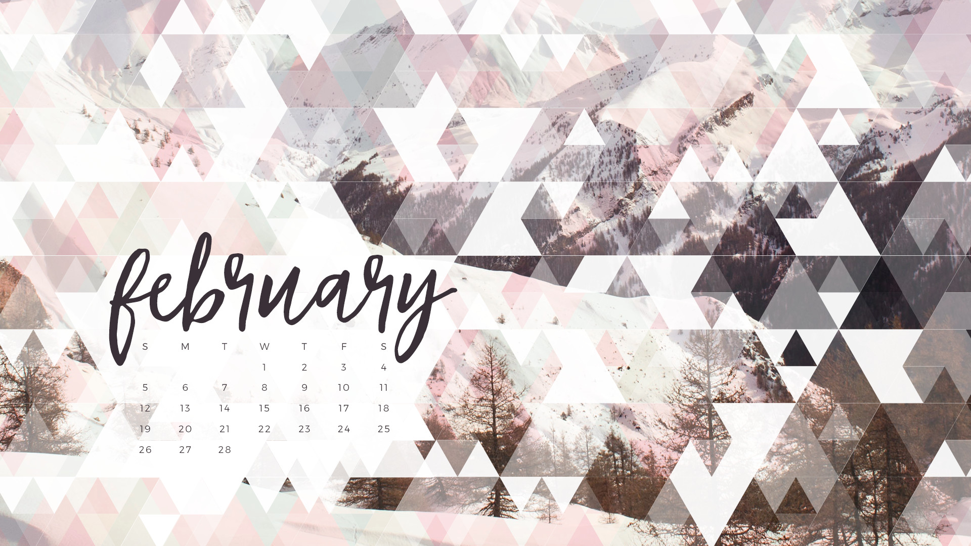 February 2017 Calendar for Desktop iPad and iPhone 1920x1080