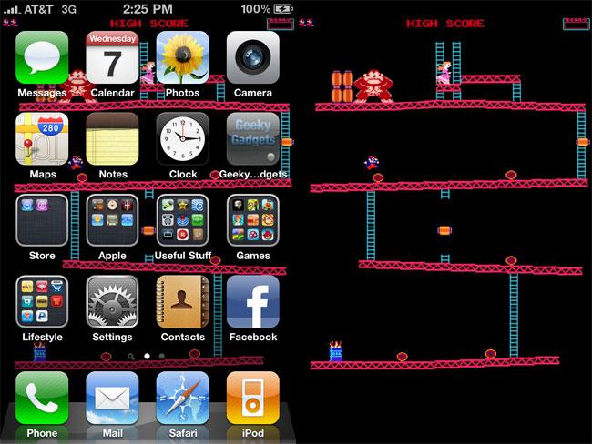 Donkey Kong Original Wallpaper Donkey kong ios 4 iphone 4 650x488