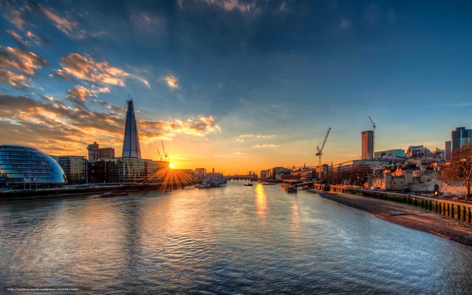 Download wallpaper London, England, sunset free desktop wallpaper in ...