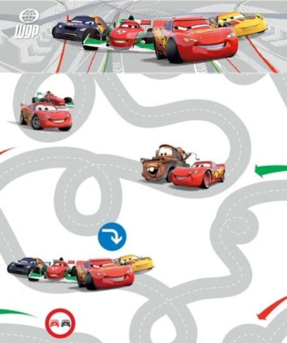 Childrens Rooms Disney Cars Disney Cars 2 Wallpaper Border 585x700