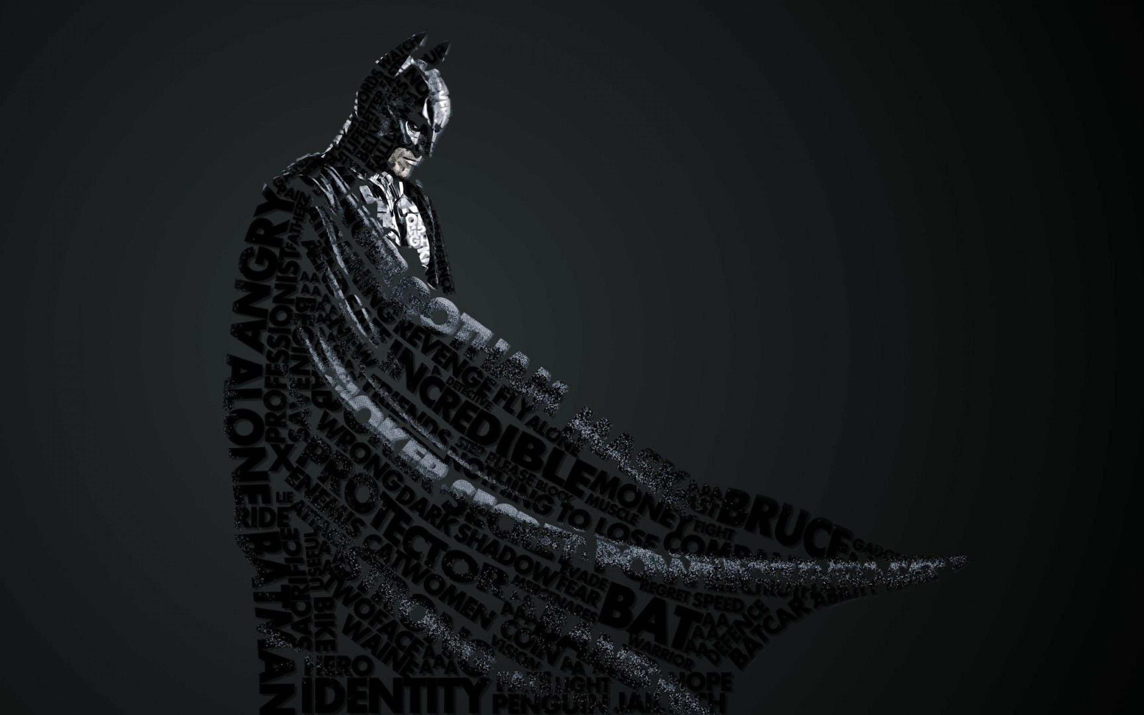 Download Wallpaper 3840x2400 batman style lettering Ultra HD 4K HD 3840x2400