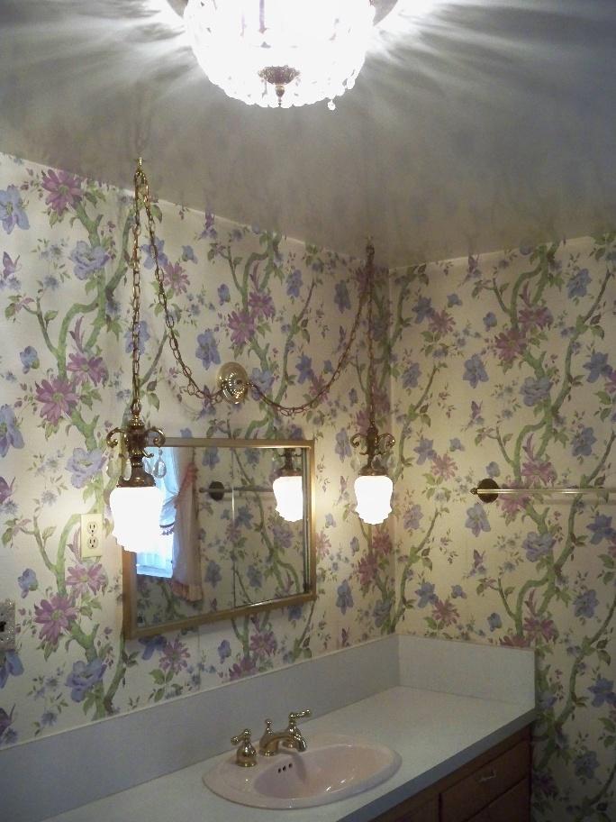 Vintage Original Bathroom 1957 Swag Hanging Lights Wallpaper Phoenix 684x912