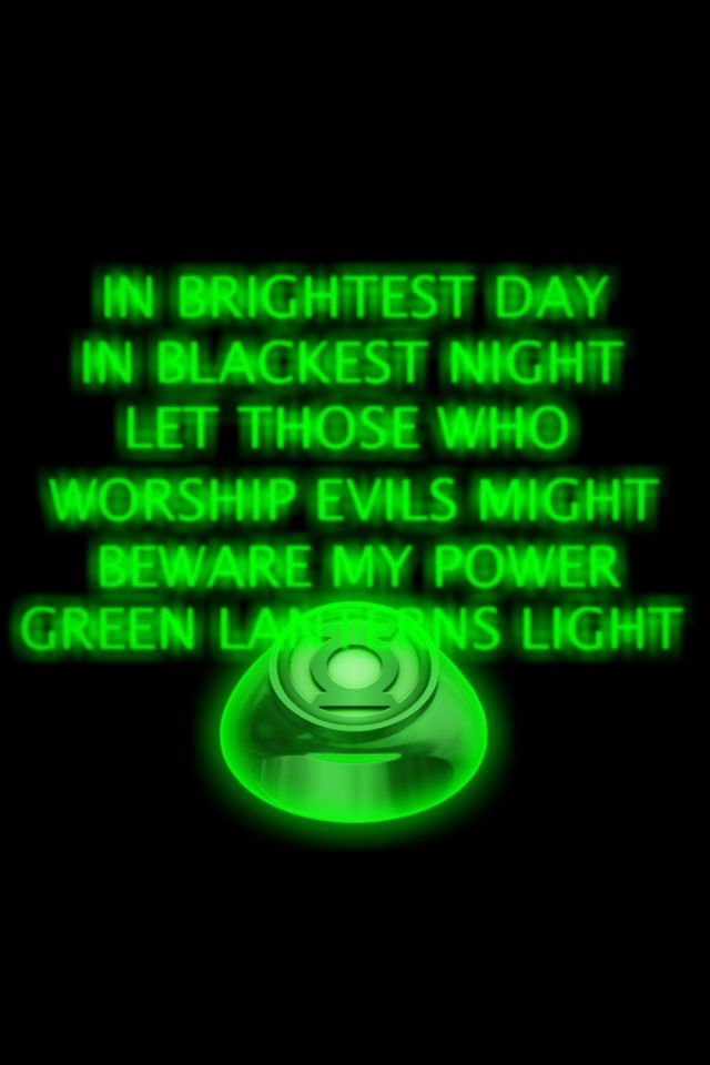 Green Lantern Ring and Oath background by KalEl7 on deviantART 640x960