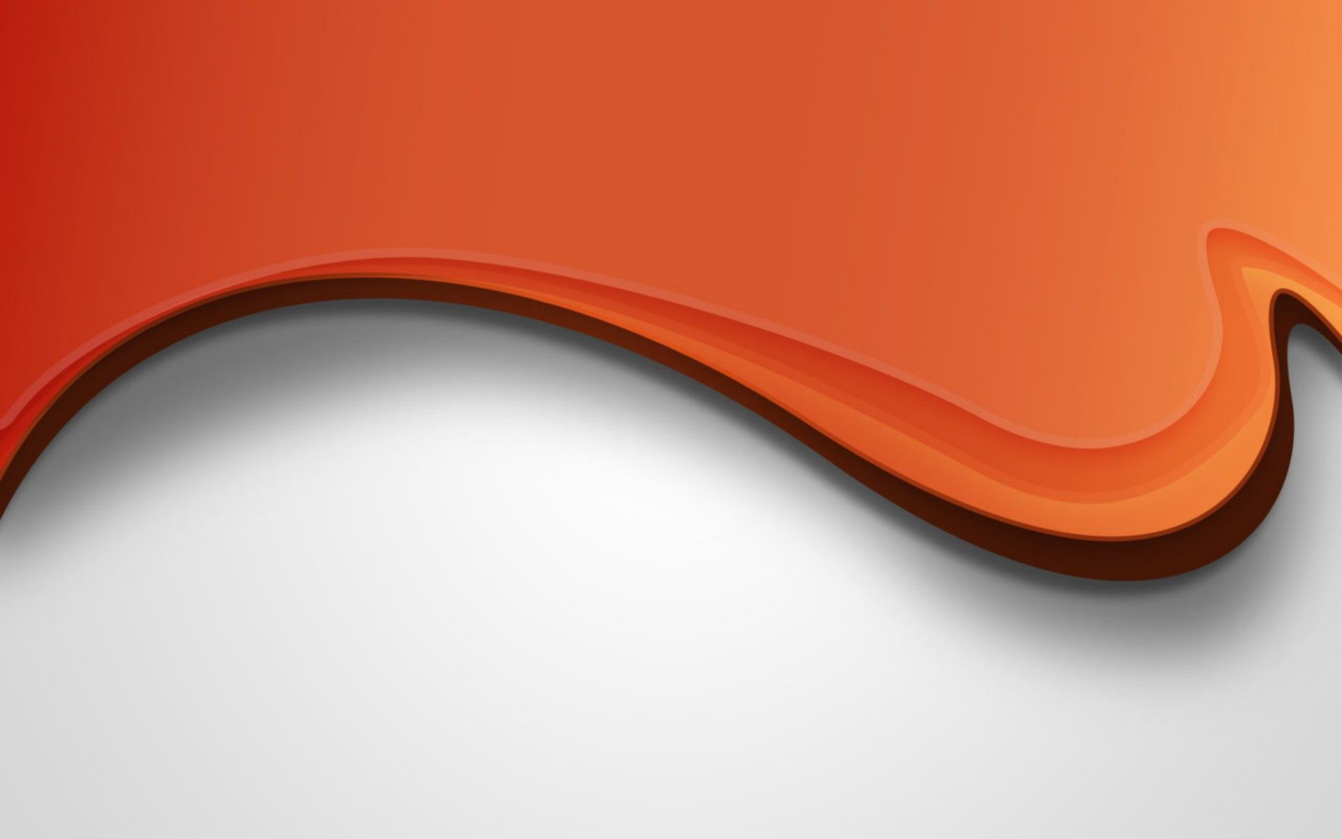 Orange wave on white Widescreen Wallpaper   6033 1920x1200