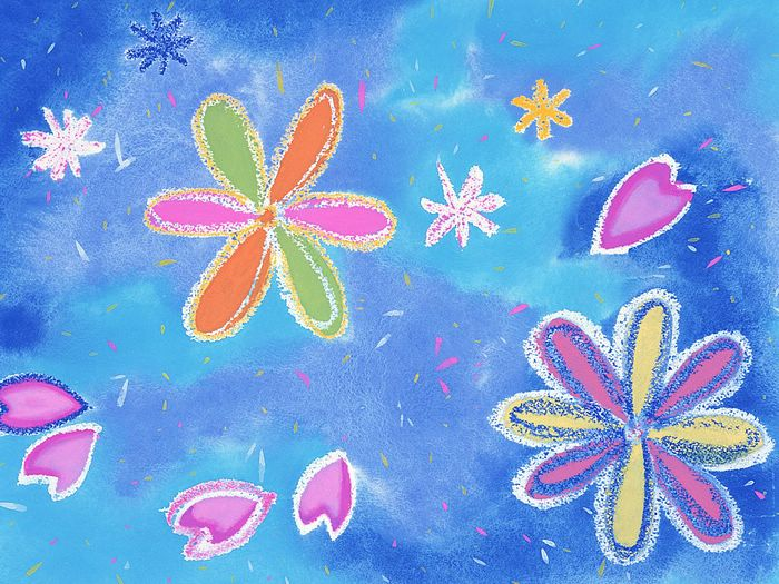 Lovely Floral Background for Children Abstract Pattern Wallpaper 700x525