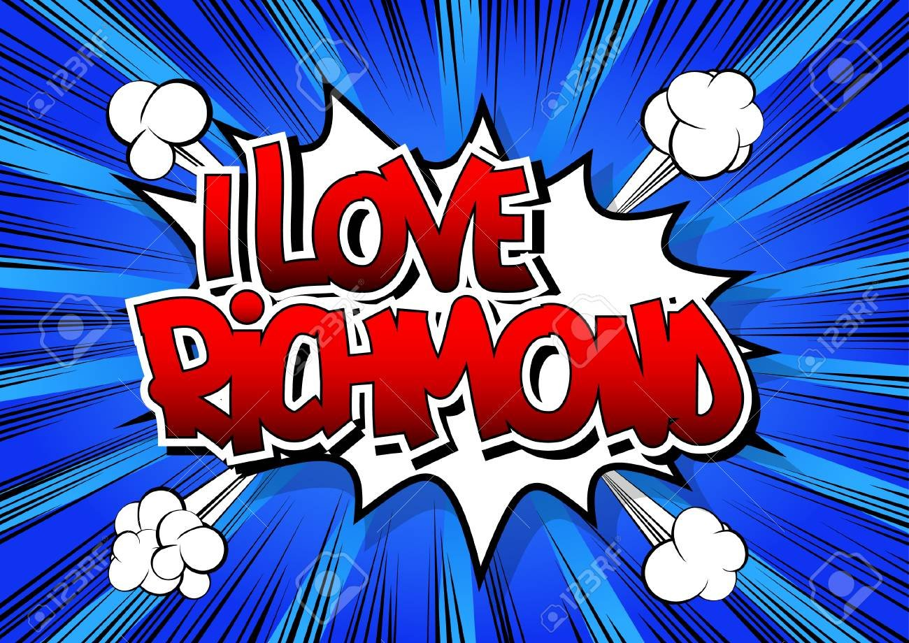 I Love Richmond   Comic Book Style Word On Comic Book Abstract 1300x920