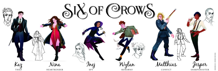 Six of Crows Szstka wron Leigh Bardugo   Kochajmy ksiki 850x280