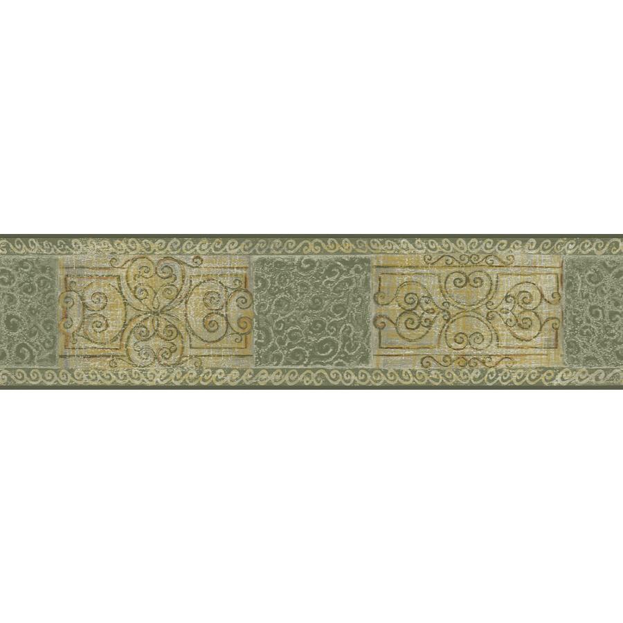 Sanitas 5 18 Scroll Tile Prepasted Wallpaper Border at Lowescom 900x900