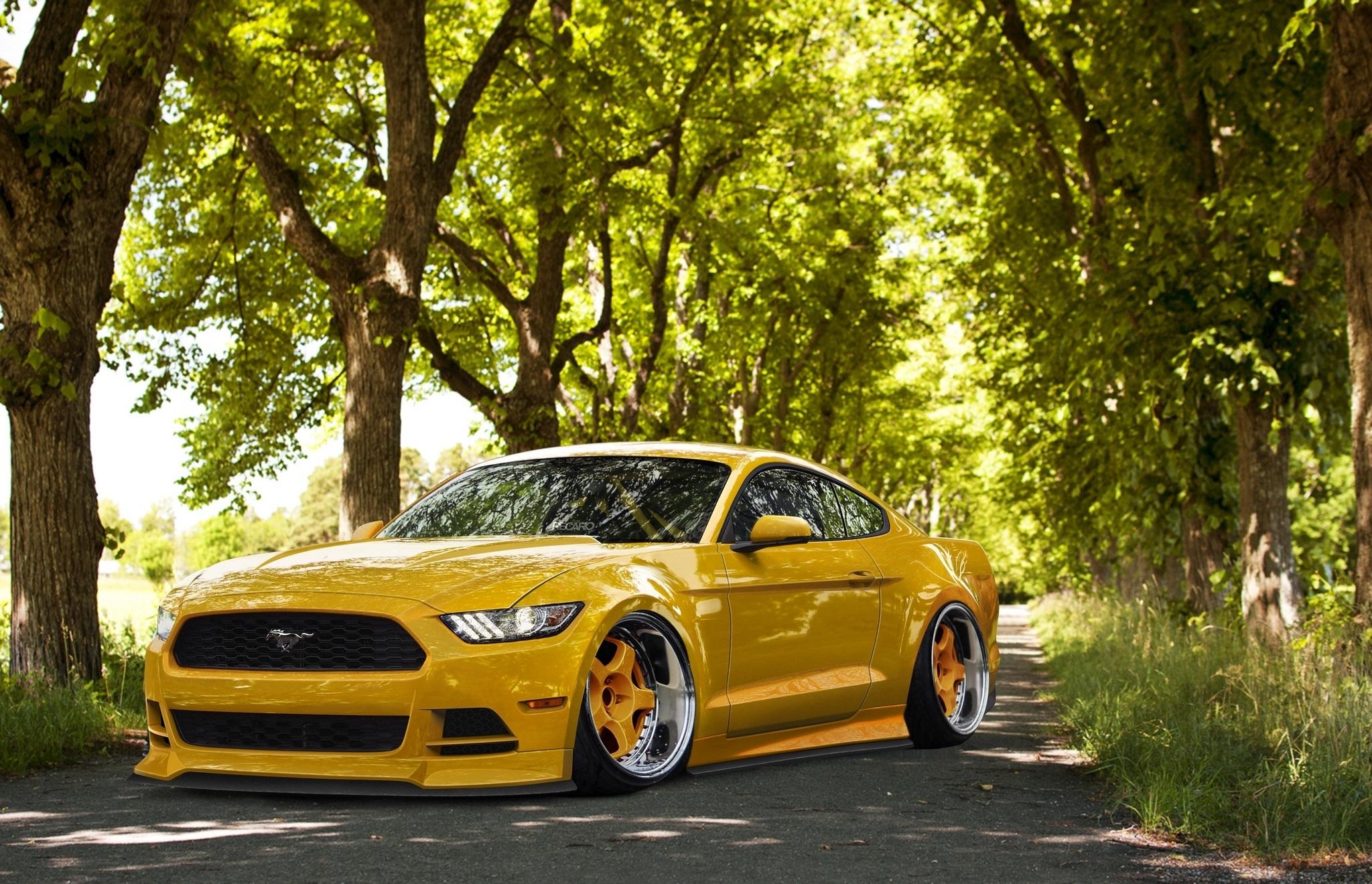 Ford F650 Wallpaper >> Yellow 2015 Mustang Wallpaper - WallpaperSafari