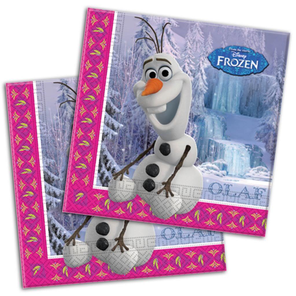 20 Disneys Frozen Snow Queen Olaf Snowman Party Disposable 33cm Paper 1024x1024