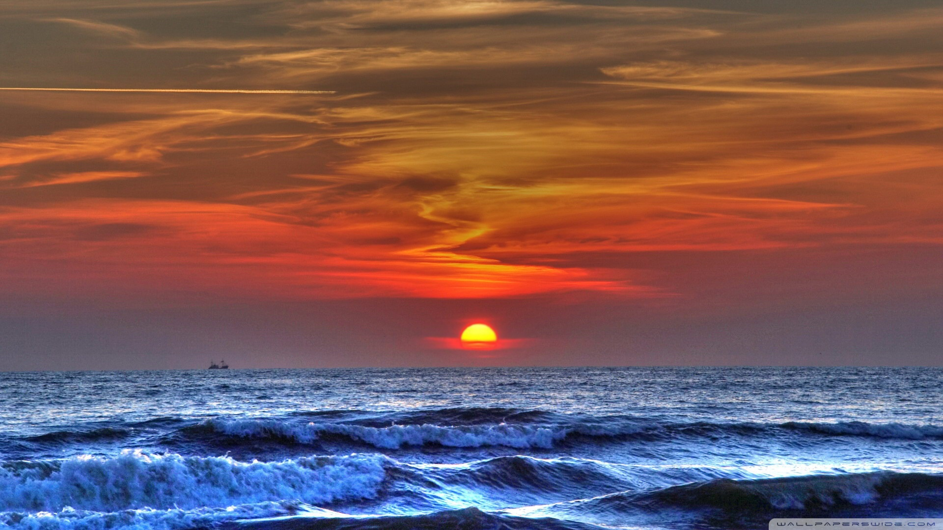 Sunset On The Beach 9 Wallpaper 1920x1080 Sunset, On, The, Beach, 9