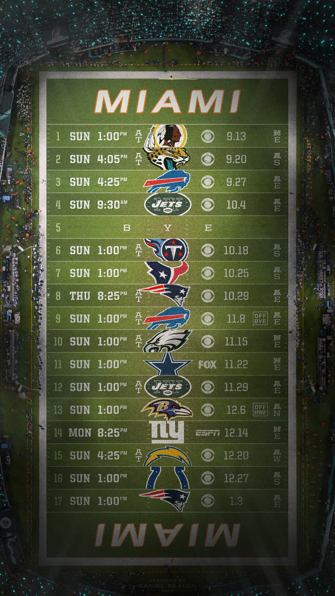 2015 NFL Schedule Wallpapers NFLRT 1118x1987