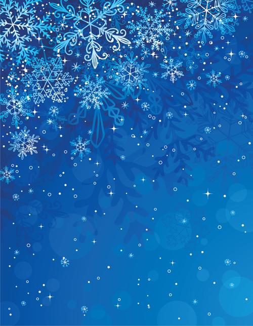 Winter snowflake backgrounds art design vector 03 Over millions 500x644