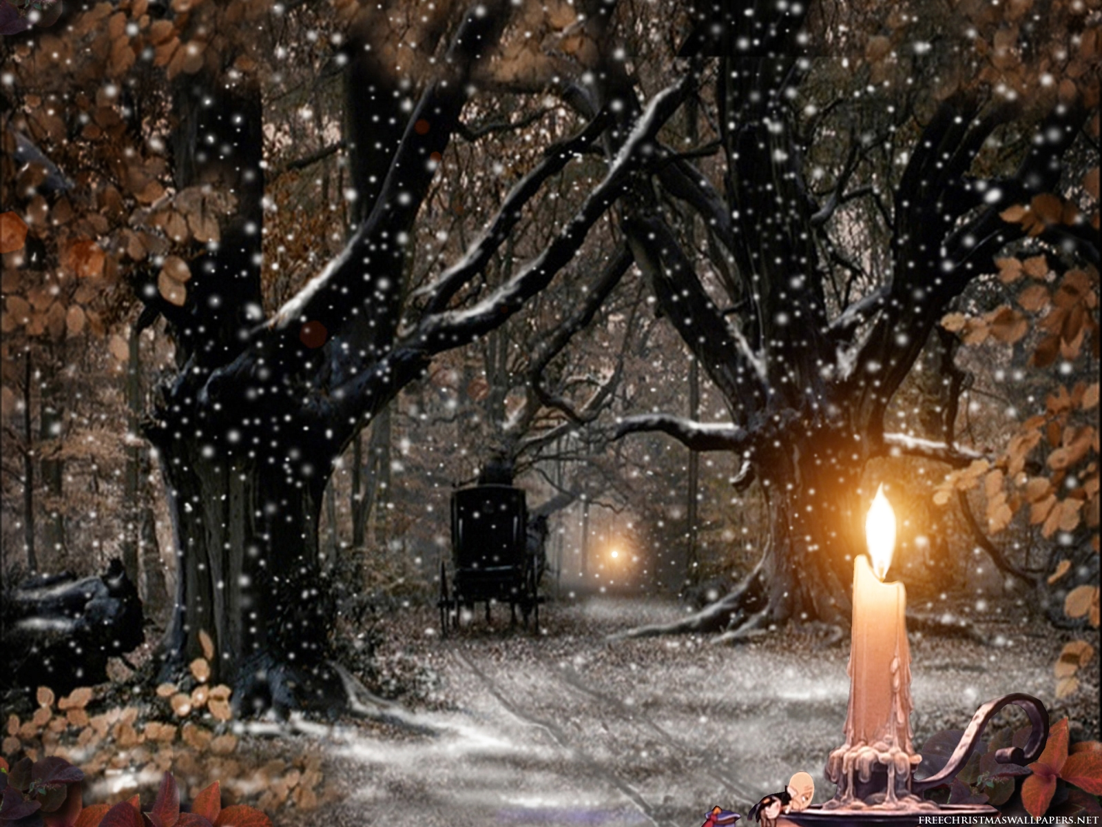 Games Wallpapers Christmas Candle Wallpapers 1600x1200