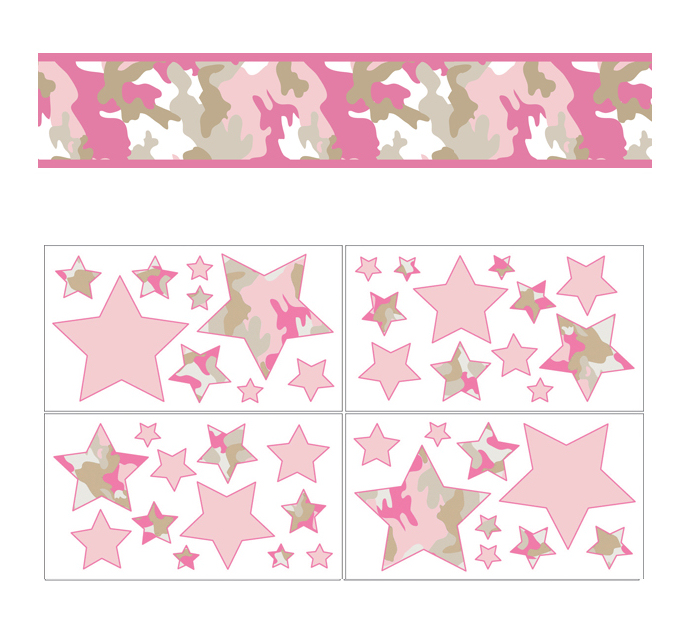 Pink Camo Crib Bedding   9pc Pink Army Camouflage Baby Girl Nursery 684x638
