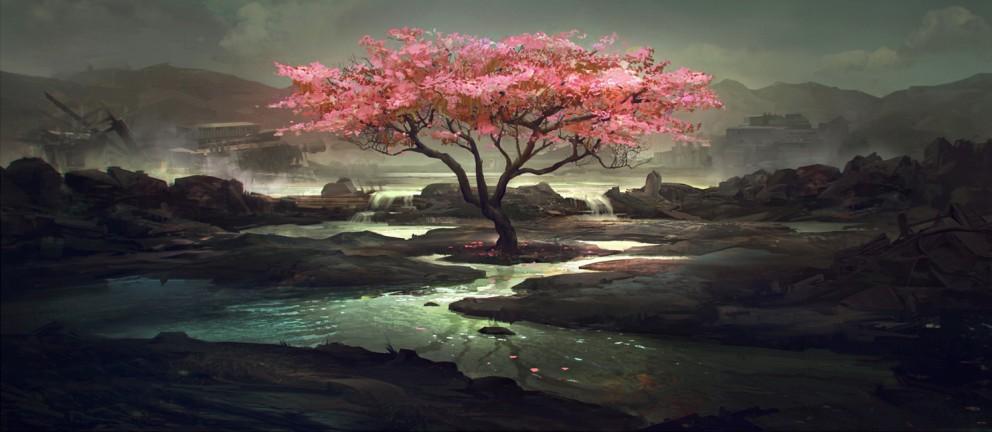 paintings SceneryLandscapes wallpaperCoolvibe Digital Art 992x432