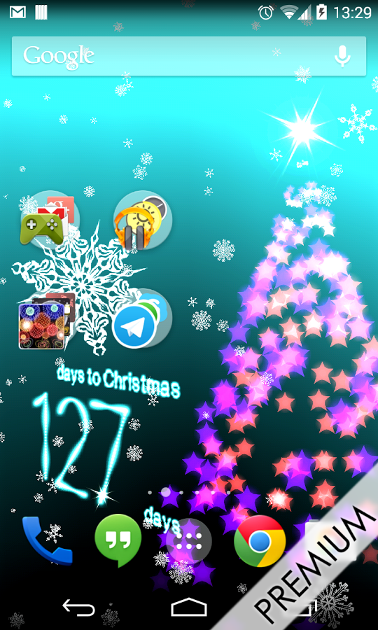 This 3D Christmas Countdown 2014 Live Wallpaper have a Christmas Scene 540x900