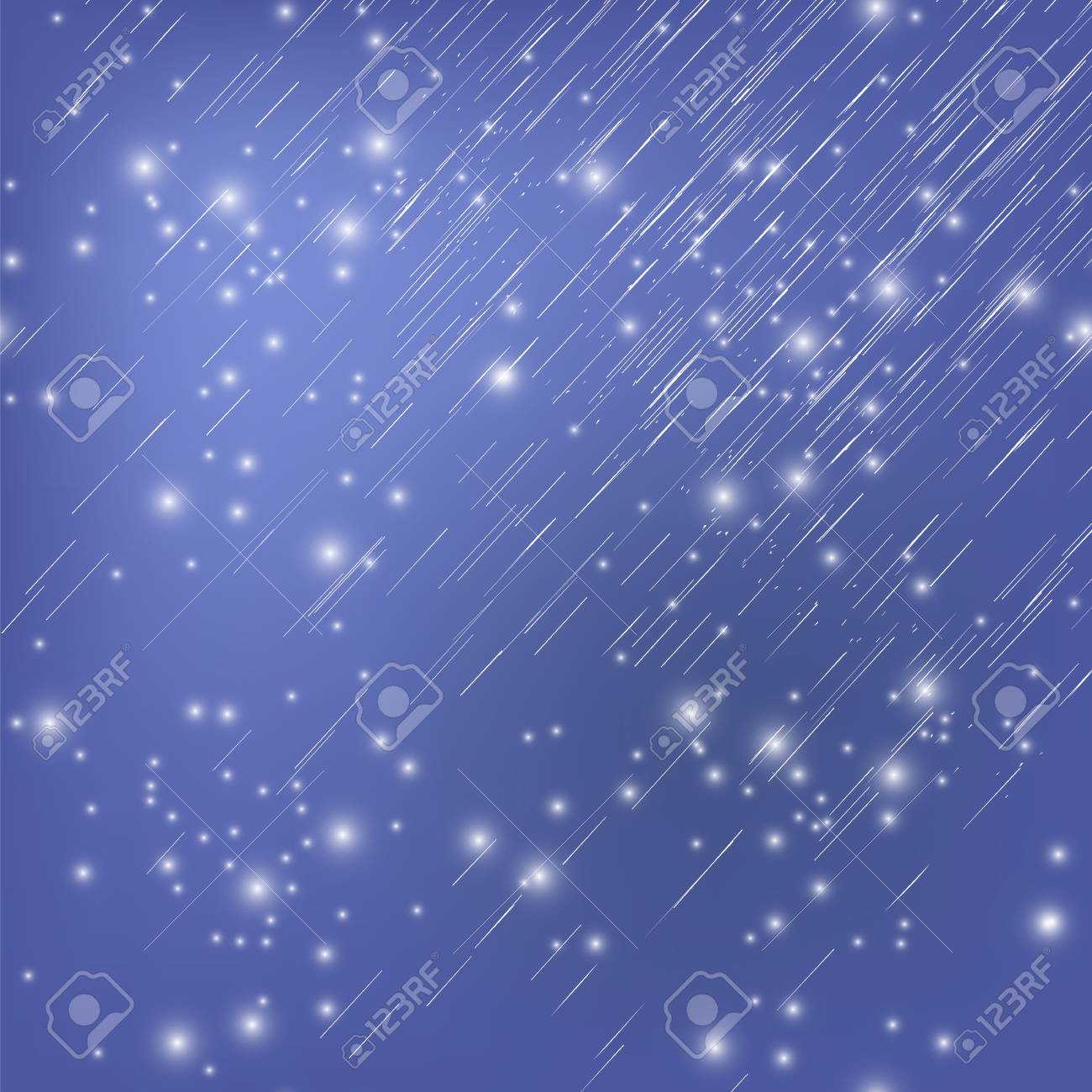 White Falling Star On Blue Night Sky Background Shooting Stars 1300x1300