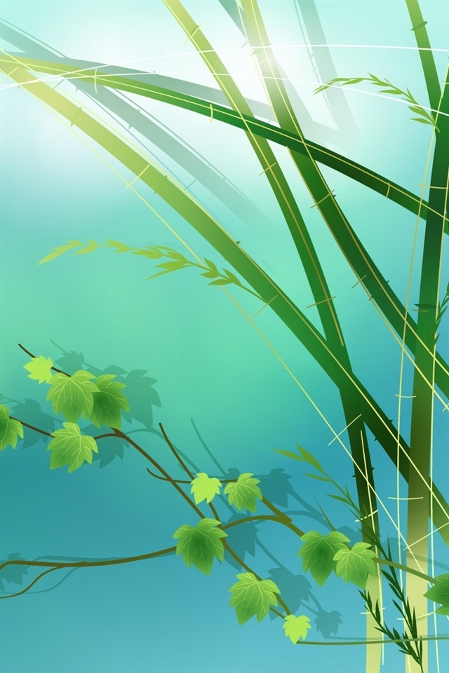 Bamboo Leaf Ipod Touch Wallpapers 640x960 Hd I Phone Wallpapers 640x960