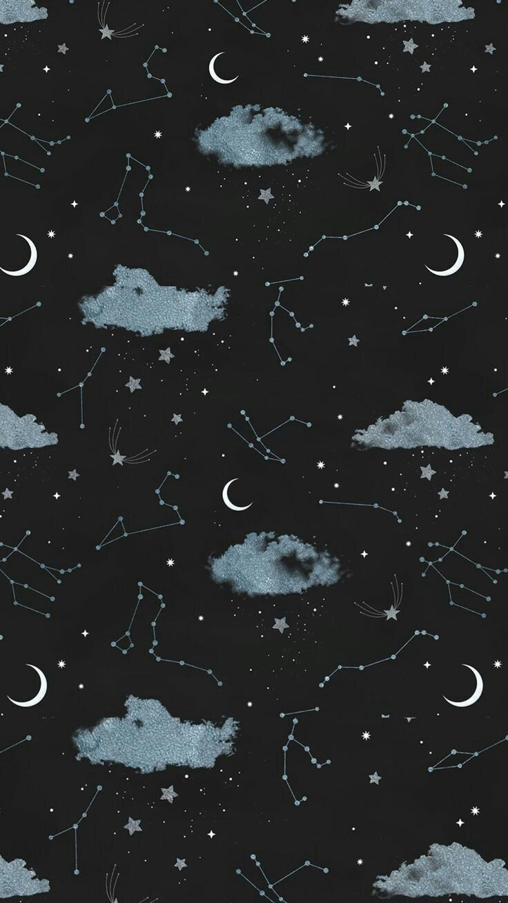 Wallpaper Phone on Twitter Night sky wallpaper Moon and stars 736x1308