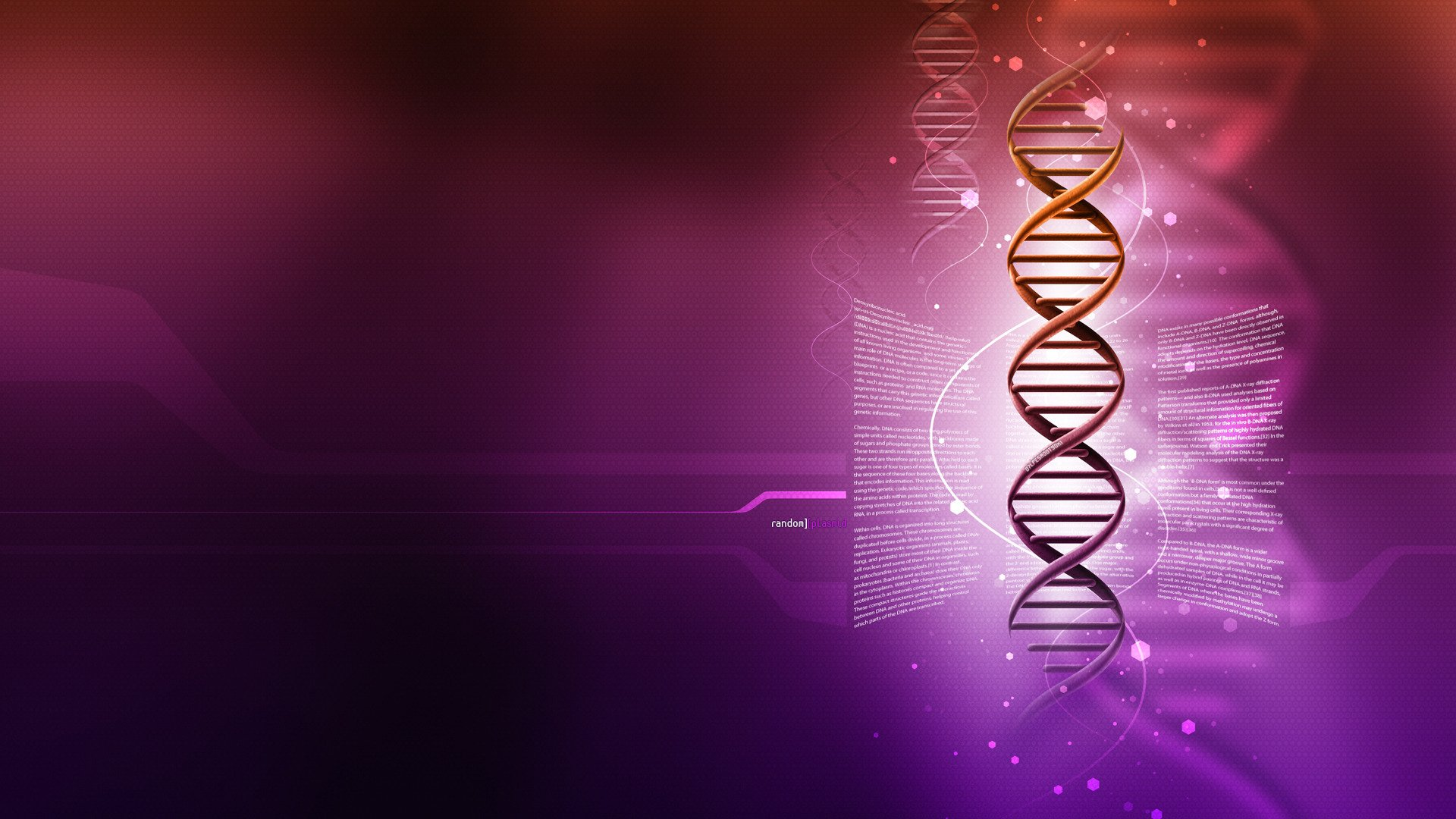 dna 3 d Structure Molecule Pattern Abstraction Genetic 1920x1080