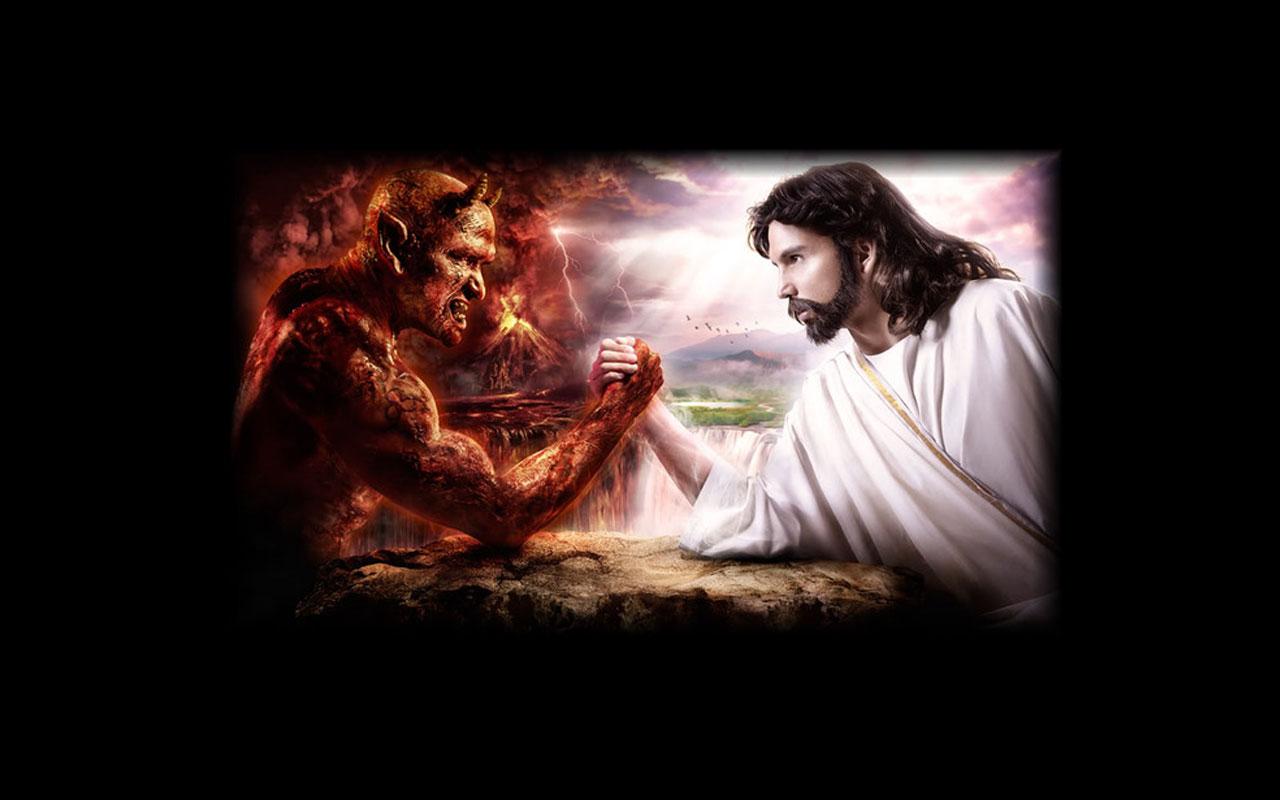 Satan Vs Jesus Free God And Devil Arm Wrestling 100305 1280×800