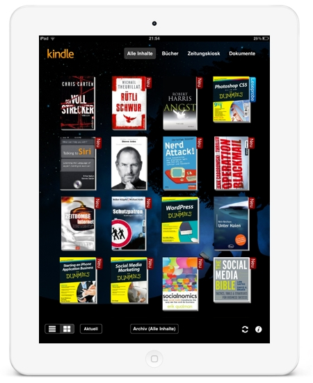 Kindle App for iPad 450x551