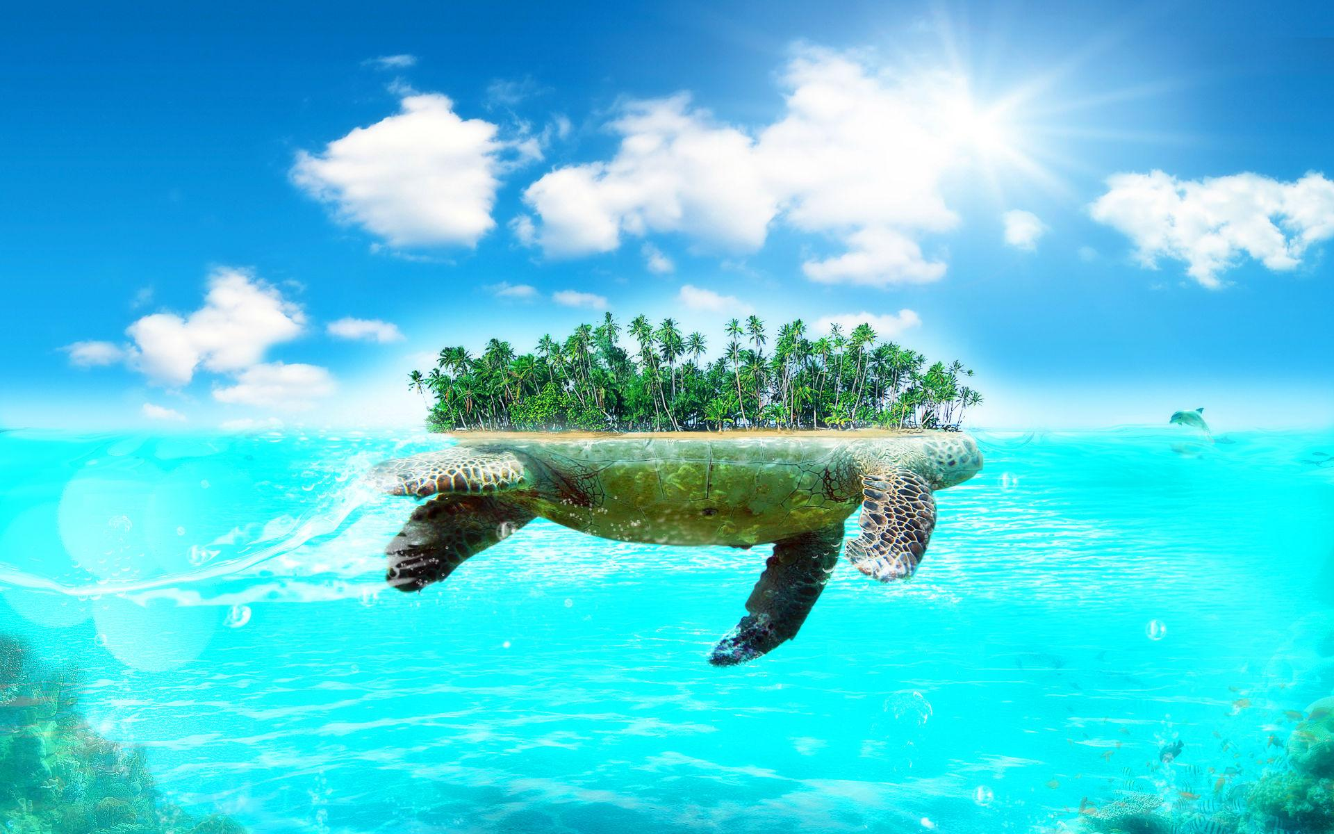 hd wallpapers turtle island beautiful large wallpaper desktop 1920 1920x1200
