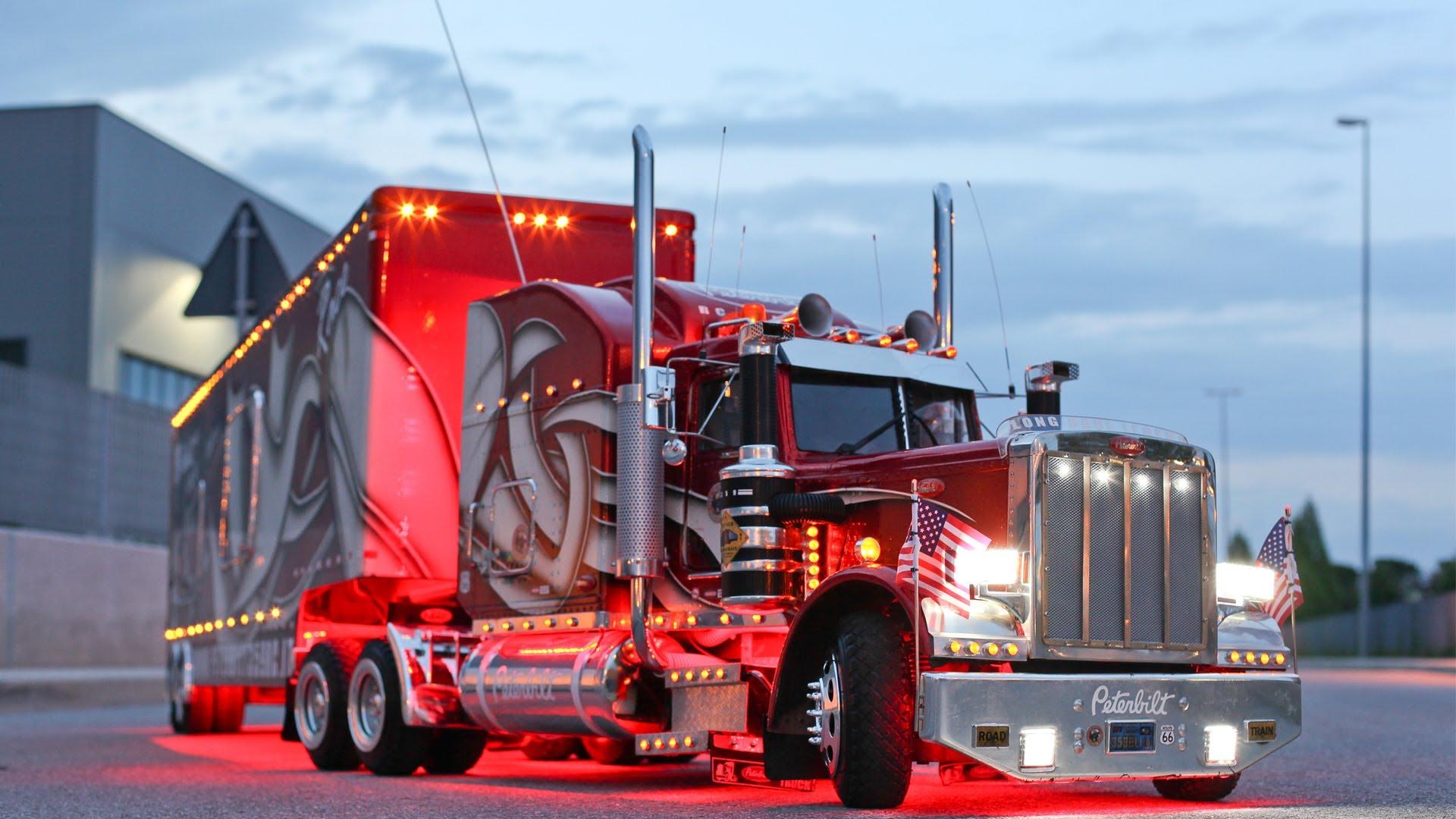 Peterbilt 359 RC 14 Truck Road Nightmp4 1920x1080